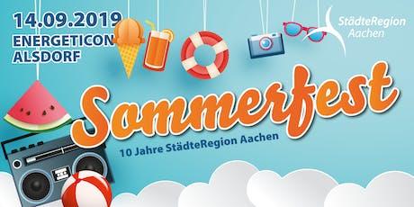 Sommerfest der StädteRegion Aachen 2019 Tickets