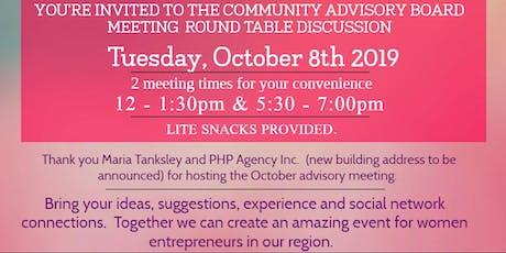 Women's Entrepreneur Summit Community Advisory Board Meeting - OCTOBER 8 tickets