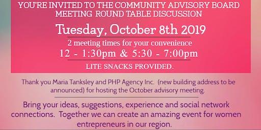Women's Entrepreneur Summit Community Advisory Board Meeting - OCTOBER 8