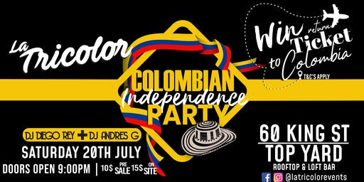 Colombian Independence Rooftop Party!