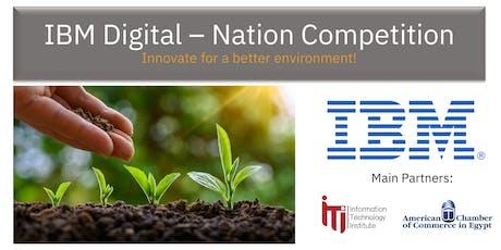 IBM Digital - Nation Competition Mini Innovation Days billets