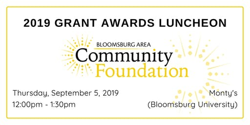 Bloomsburg Area Community Foundation Luncheon 2019