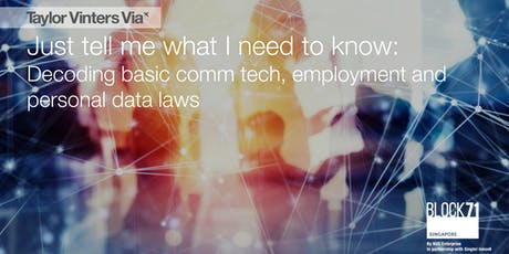 Decoding basic comm tech, employment and personal data laws tickets