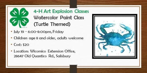 4-H ART Explosion  Class - Watercolor Paint Night