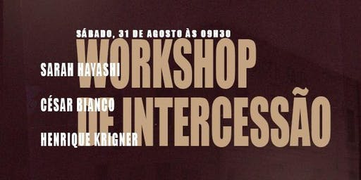 WORKSHOP DE INTERCESSÃO