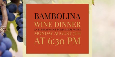 Portuguese Wine Dinner tickets