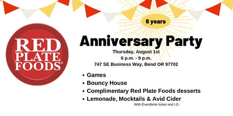 Red Plate Foods Anniversary Party tickets