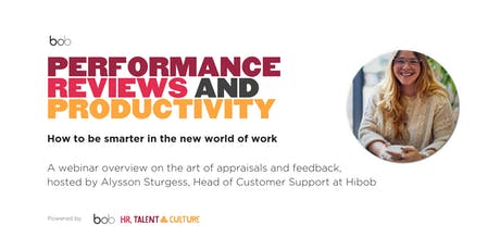 Performance Reviews and Productivity (Webinar) tickets