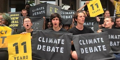Alachua County Democratic Call to support #ClimateDebate