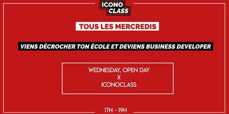 WEDNESDAY, OPEN DAY x  ICONOCLASS (17 JUILLET) billets