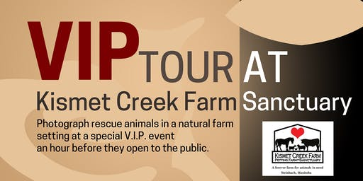 VIP  Photo Tour @ Kismet Creek Farm Sanctuary