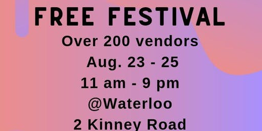 FREE FAMILY FRIENDLY VENDOR & ART FESTIVAL - Parking Not Included