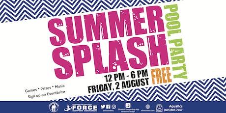 Ellsworth AFB Summer Splash Pool Party August tickets