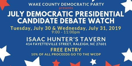 WCDP July Democratic Presidential Debate Watch Parties tickets