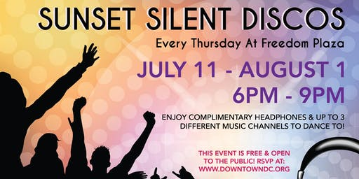 Sunset Silent Discos at Freedom Plaza