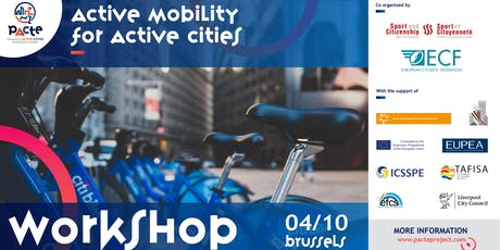 PACTE project 4th Workshop - Active Mobility billets