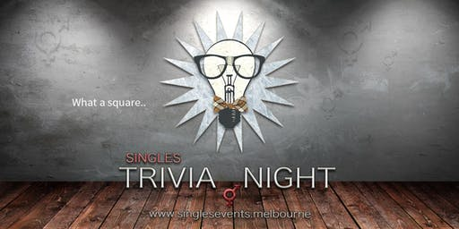 Singles Trivia Night | Age 27-42 | August