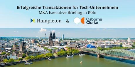 Erfolgreiche Transaktionen für Tech-Unternehmen - M&A Executive Briefing tickets