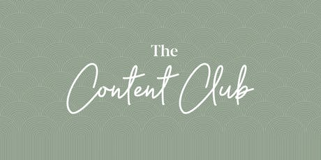 The Content Club tickets