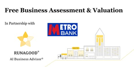 Metro Bank Business Event: Free Business Assessment & Valuation tickets