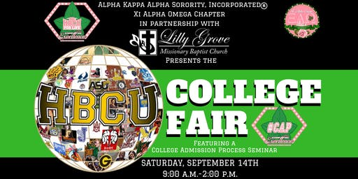 HBCU For Life College Fair hosted by Alpha Kappa Alpha Sorority, Incorporated, Xi Alpha Omega Chapter