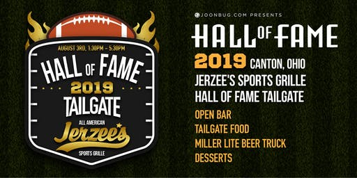 Jerzee's Sports Grille Tailfate Hall of Fame Ceremony