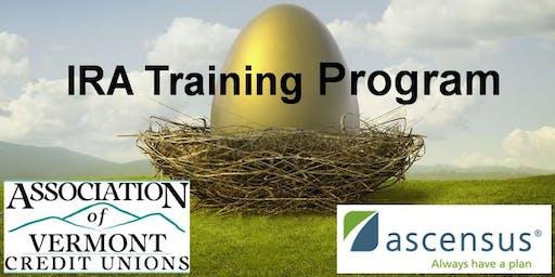 AVCU's 2019 IRA Training Program