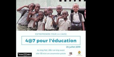 4@7 pour l'éducation tickets