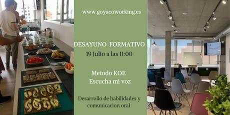 Desayuno Formativo - Desarrollo y habilidades de comunicación oral entradas