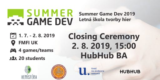 Closing Ceremony - Summer Game Dev 2019