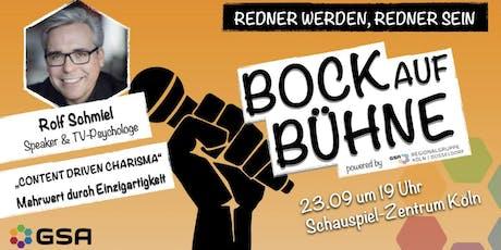 """Rolf Schmiel: """"Content driven Carisma"""" Tickets"""