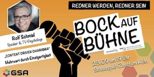 Bock auf Bühne: Rolf Schmiel
