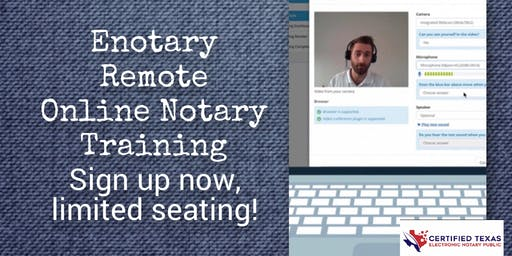 Enotary/Remote Online Notary