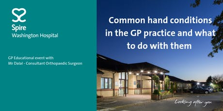 Common hand conditions in the GP practice and what to do with them. tickets