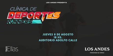1er. Clínica de deportes: Especial Runners entradas