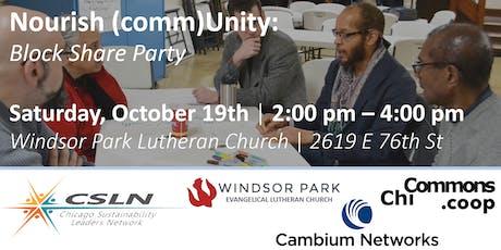 Nourish (comm)Unity: Block Share Party tickets