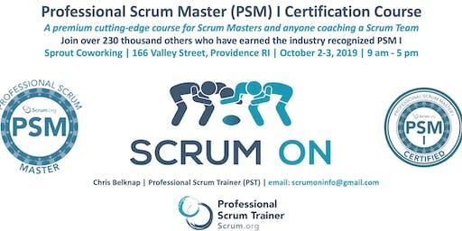 Scrum.org Professional Scrum Master (PSM) I - Providence RI - Oct 2-3, 2019