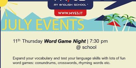 Word Game Night biglietti