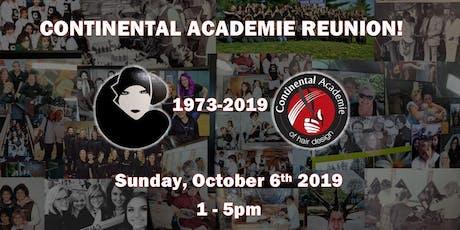 Continental Academie of Hair Design Reunion tickets