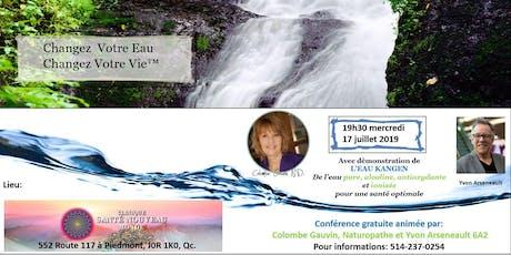 Conférence avec démonstration de l'eau Kangen tickets