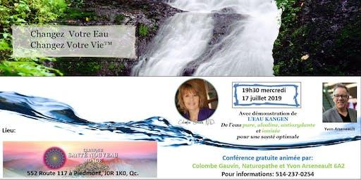 Conférence avec démonstration de l'eau Kangen