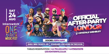 ONE AFRICA MUSIC FEST LONDON OFFICIAL AFTER PARTY  tickets