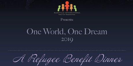One World, One Dream 2019 - A Refugee Benefit Dinner tickets
