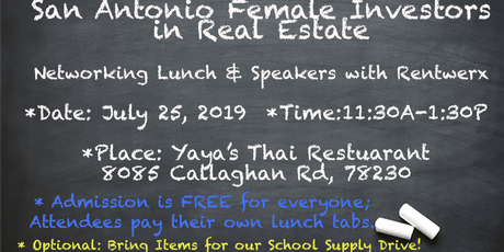 San Antonio Female Investors in Real Estate: Lunch, Learn  & Networking tickets