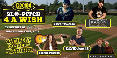 QX104 Slo Pitch 4 A Wish & Concert 2019 tickets