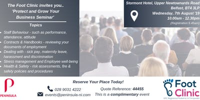 Foot Clinic NI & Peninsula - Protect and Grow Your Business Seminar
