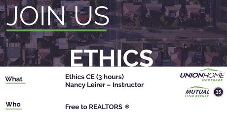 Ethics CE for Realtors tickets