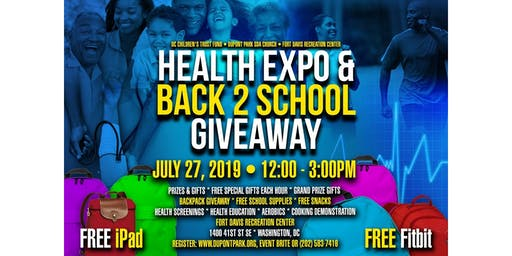 HEALTH EXPO & BACK 2 SCHOOL GIVEAWAY