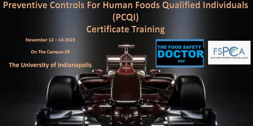 Indianapolis FSPCA Preventive Controls Human Foods (PCQI)