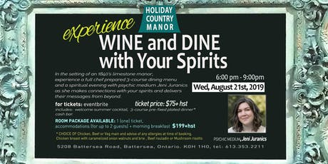 Experience Wine and Dine with Your Spirits tickets